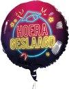 Folieballon Hoera geslaagd neon 45cm