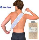We Flow™ Honinggraat Rug Scrubber – Douche/ Bad Borstel – Rug Massageborstel – XL – Bruin