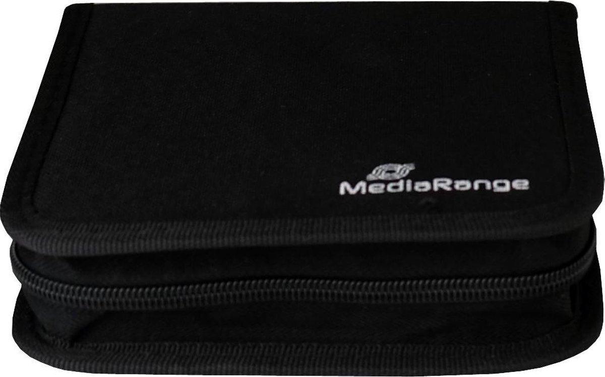 MediaRange BOX50 CD-doosje Portemonneehouder 24 schijven Zwart