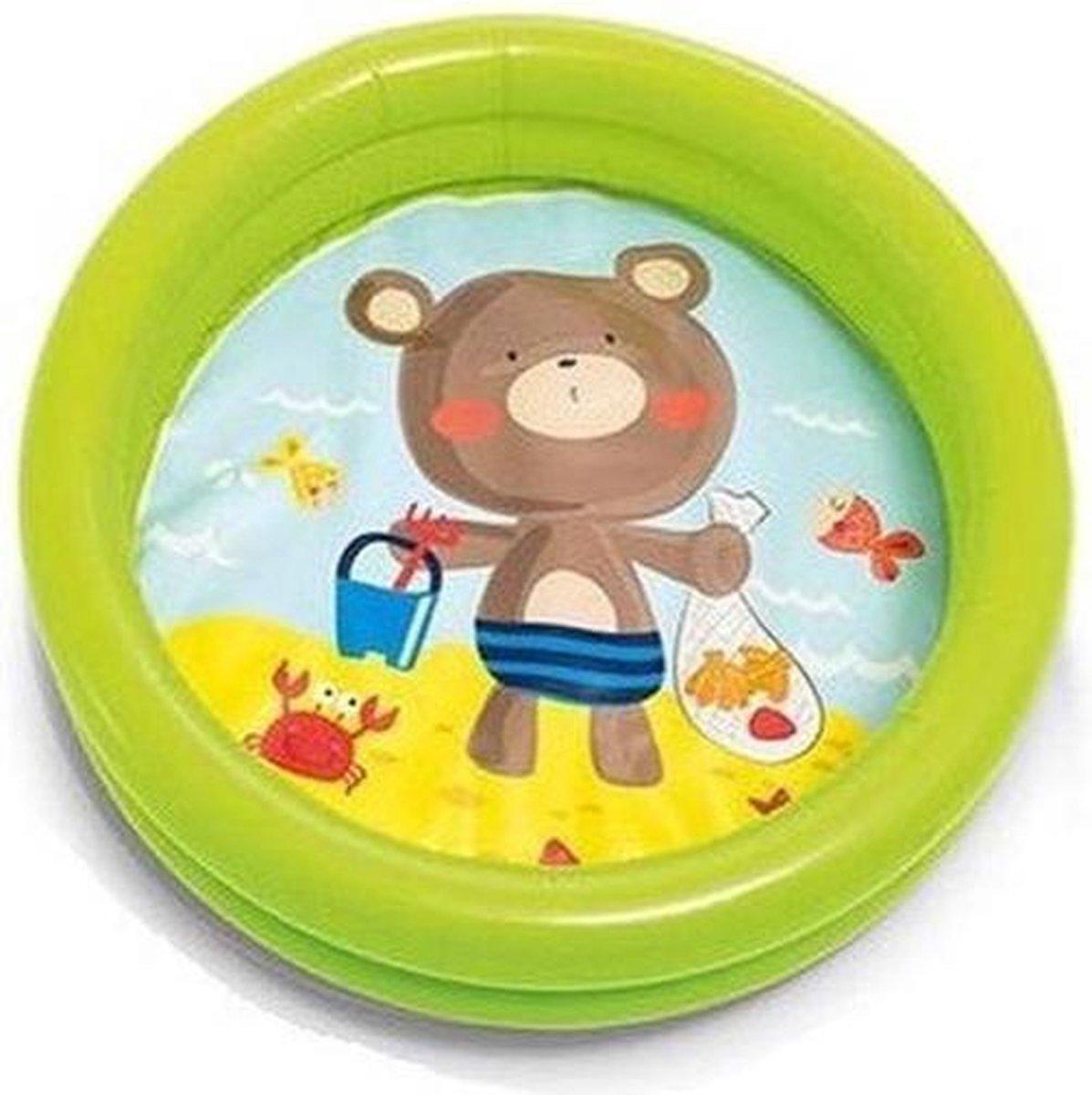 Intex babyzwembad groen 61 cm - Peuterbadje - Buitenspeelgoed - beertje