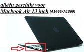Macbook Case voor Macbook Air 13 inch (modellen t/m 2017) - Laptop Cover - Matte Zwart