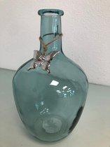 Glazen vaas blauw
