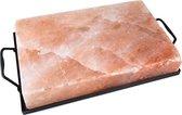 Zoutsteen - Kookplaat / grillsteen / serveerschaal   met frame