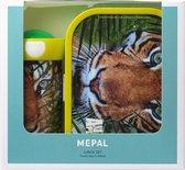 Mepal Campus Lunchset - Schoolbeker en Lunchbox - Animal Planet Tijger - Groen