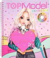 TOPModel kleurboek met pailletten