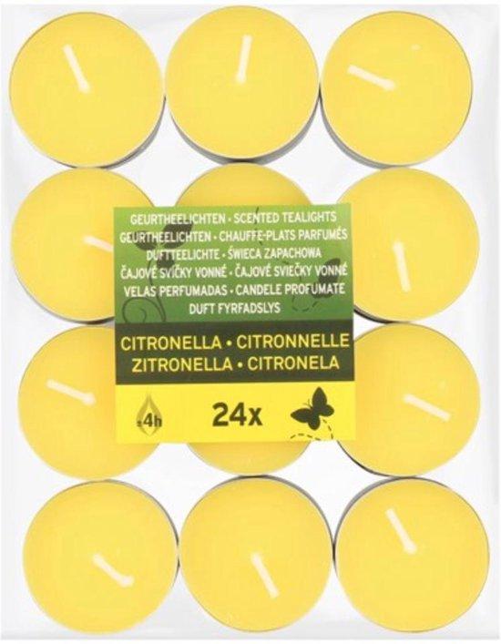 Geurtheelichten Citronella | Anti-mug | 24 stuks | Citronella waxinelichtjes