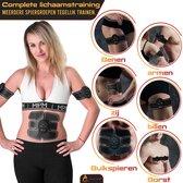 Aesthetify® EMS Elektrische Buikspierentrainer Set met E-Book - Spierstimulator - Sixpack trainen - Massage apparaat - Unisex - Zwart - Inclusief 20X Gel Pads