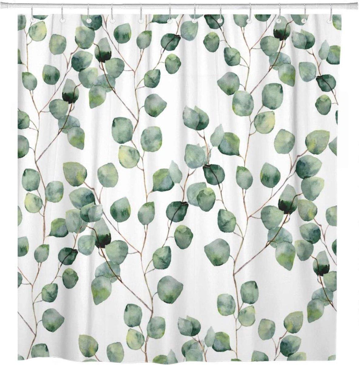 Douchegordijn Badkamer Accessoires - 180x200 cm - Eucalyptus
