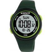 Groen Xonix digitaal horloge waterdicht