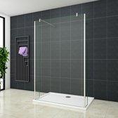 Inloopdouche Vrijstaand met Zijwanden Blossom 900x2000 8mm Helder Glas Antikalk Chroom