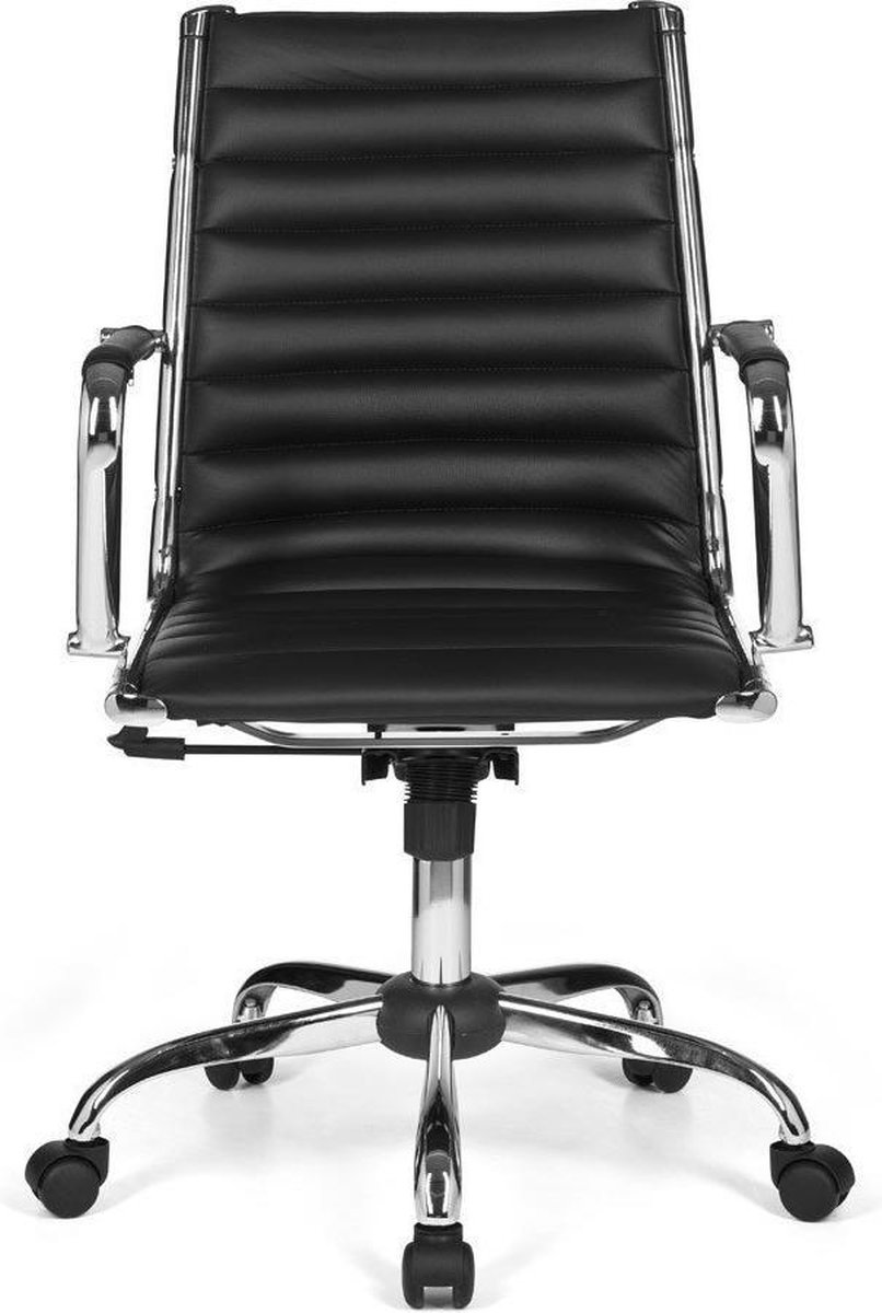 Nancy's Sebring Bureaustoel - Directiestoel - Ergonomische draaistoel - Bureaustoelen - Zwart - Kunstleer
