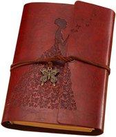 Afbeelding van Dagboek Notitieboek Ringband Receptenboek Schrijven Hervulbaar Diy Vintage Scrapbook Kopen Bruin Leer