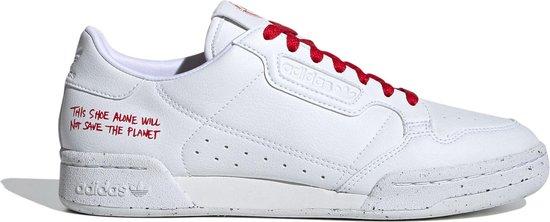 adidas Sneakers - Maat 42 - Unisex - wit,rood