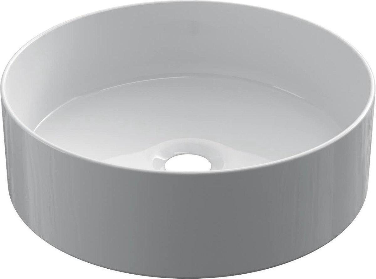 Keramische ronde opbouw waskom Cylindrico ø36cm wit