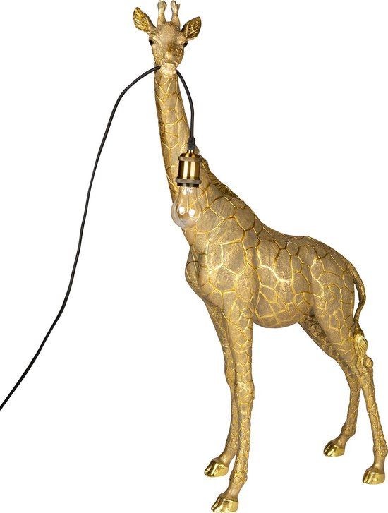 GIRAFFE LAMP GOUD 59 x 23.5 x 103 cm