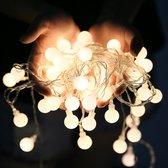 Lampjes Slinger - Fairy Lights - 10 Meter - 100 LED Lampjes - Warm Wit - Lichtsnoer met USB Aansluiting