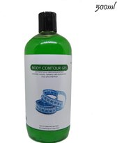 B&P - Body contour gel met zeewier extract - 500 ml - spier- en cellulite massage -bodywrap - massage olie - cupping massage