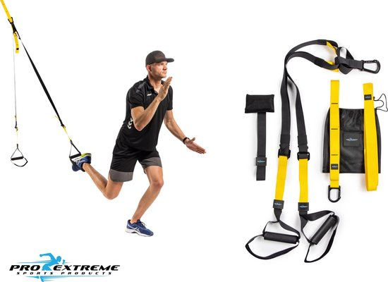 ProExtreme - Suspension Trainer - Resistance Band - Met Deurhaak - TRX Pro - TRX Suspension Trainer
