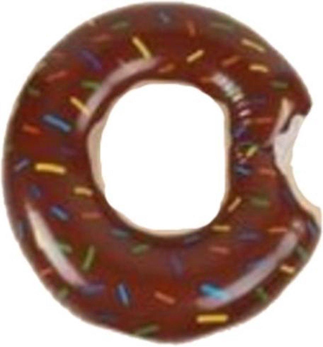 Opblaasbare chocolade donut voor in het zwembad 60 centimeter