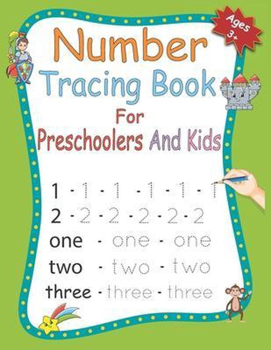 Number Tracing Book for Preschoolers and kids
