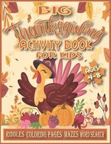 Big Thanksgiving Activity Book for Kids Ages 4-8.