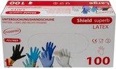 Latex handschoenen wegwerp, Latex wegwerphandschoenen - maat L   100 stuks   Poedervrij