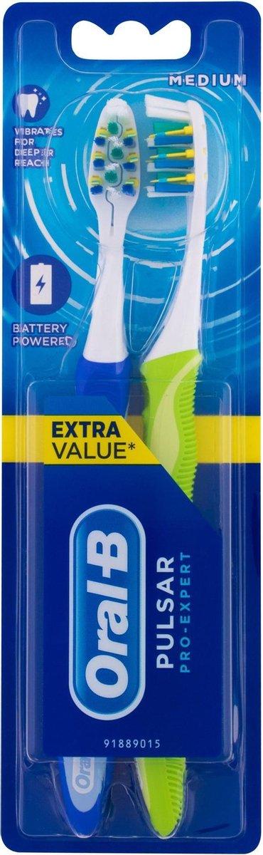 Oral-B Pro-Expert Pulsar 35M - 2 Tandenborstels - Handtandenborstel - Oral B