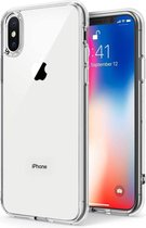 iPhone X Hoesje Transparant - iPhone Xs Hoesje Transparant - Apple iphone X Xs Siliconen Hoesje Case Back Cover - Clear