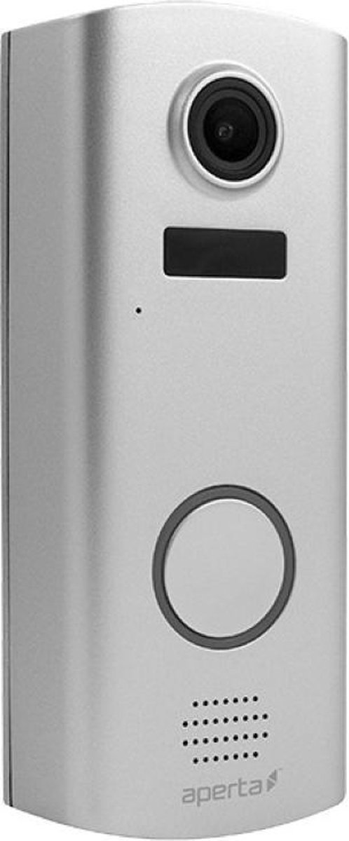 Aperta draadloze video deurbel, batterij Wi-Fi zilver deurbel met camera en app, APWIFIDSBP2