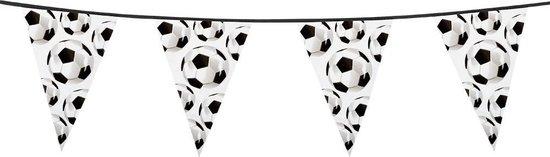 Boland - Decoratie > Vlaggenlijnen - Voetbal Slingers 6 Meter Zwart/Wit