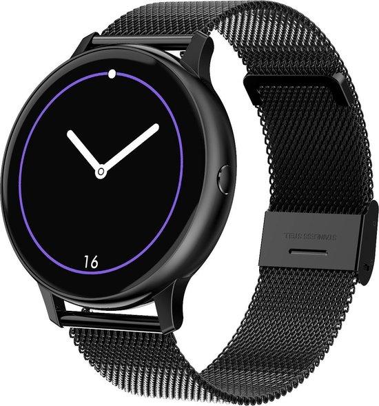 Luxury Watch - Smartwatch Zwart - Stappenteller - Hartslagmeter - Saturatiemeter - ECG Scan- Bloeddrukmeter - Casual Horloge - Zwart Horloge - Dames en Heren