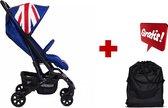 Set van Mini by Easywalker XS Union Jack Classic + Easywalker Buggy XS Transporttas