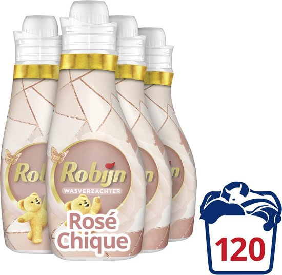 Robijn Rosé Chique Wasverzachter - 4 x 30 wasbeurten - Voordeelverpakking