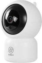Sinji Pan-Tilt Camera - Full HD 1080P - Infrarood - Beveiliging camera - App - 2-weg Audio - Wit