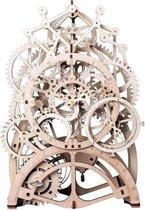 Robotime - DIY Mechanical Gears-Pendulum Clock - Houten Bouwpakket