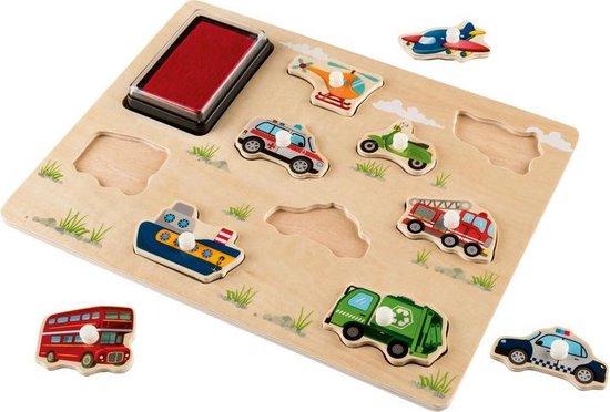 Afbeelding van het spel Stempelpuzzel - kids - vanaf 2 jaar - educatief - leren - spelen - fsc hout