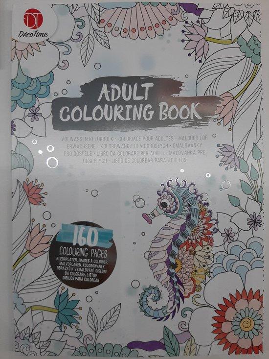 Afbeelding van Zeedieren Kleurboek Voor Volwassenen - Tekenblok - Tekenboek - 160 Mooie Kleurplaten - Kleuren Voor Ouderen Zilver - Zeepaardje