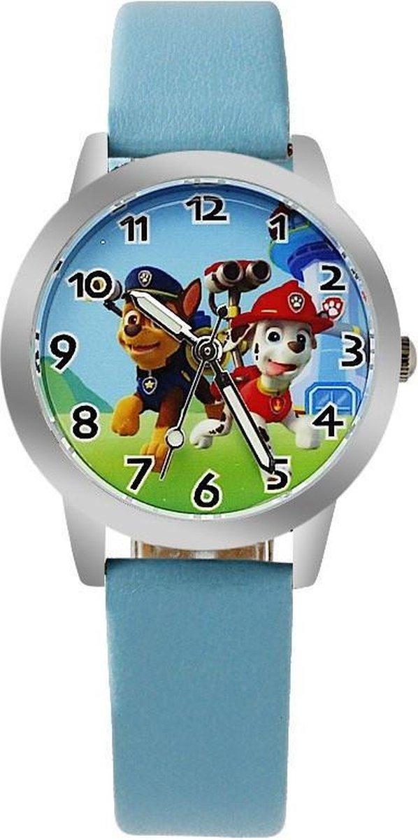 Paw Patrol horloge met glow in the dark wijzers