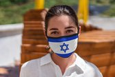 Mondkapje wasbaar Vlag Israel Mondkapje - Herbruikbaar - Wasbaar - Geschikt voor OV - Niet medisch - Antibacterieel - Met elastiek - Face Mask - Mondkapje wasbaar - Mondmasker wasbaar