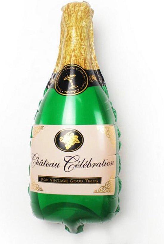 Folie ballon Champagne XL, Groen, Verjaardag, Happy Birthday, Feest, Party, Wedding, Decoratie, Versiering, Miracle Shop