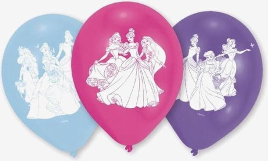 Princess Disney Latex ballonnen set 6 stuks