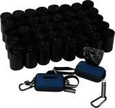 700 zwarte Eco friendly hondenpoepzakken met GRATIS dispenser - 20 rollen x 35 stuks -  Poepzakjes hond