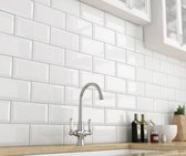 0,88m² - Metro wandtegels Wit Glans 10x20 - badkamer / keuken tegels