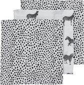 Meyco 3-pack luiers Zebra animal/Cheetah - black