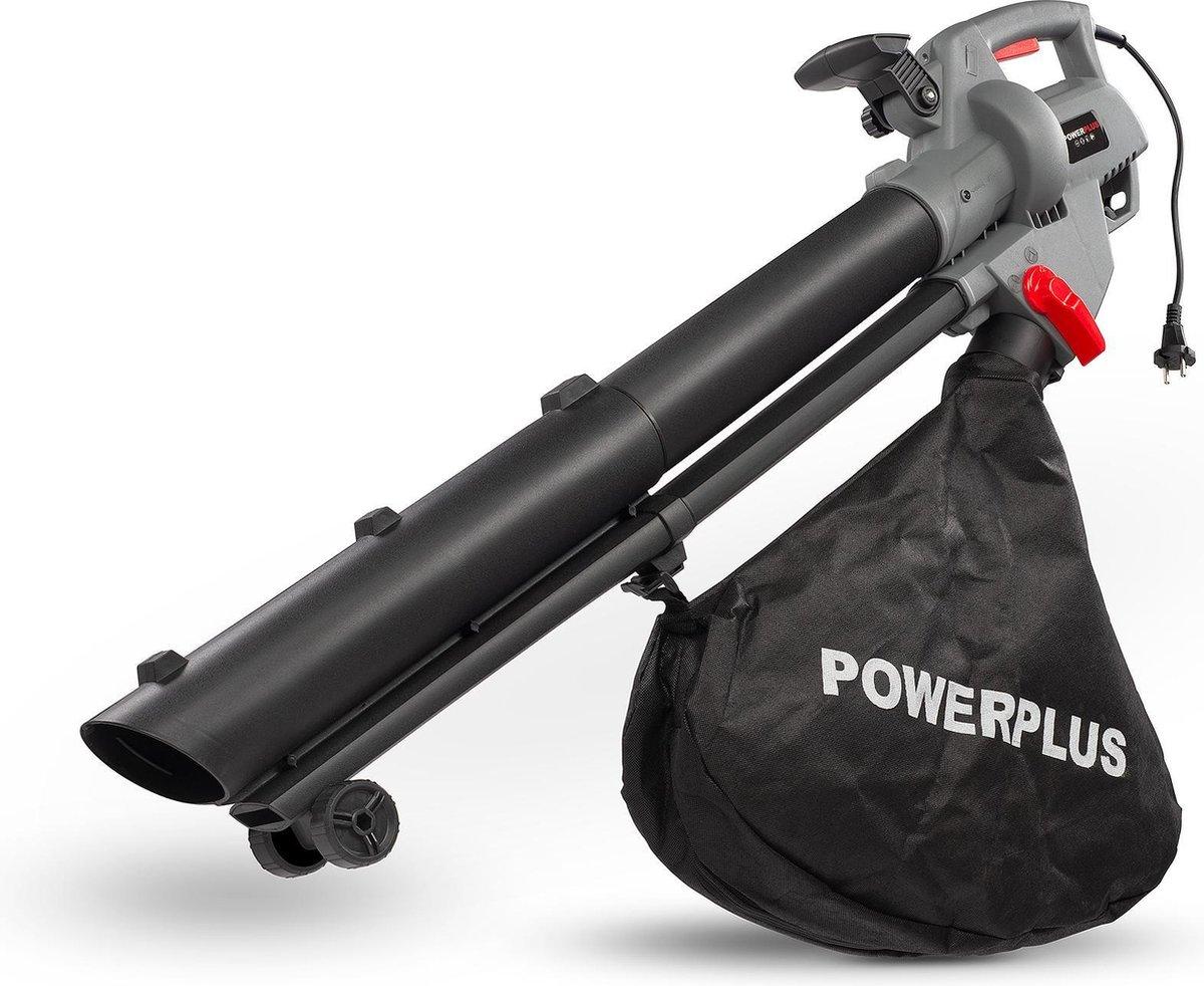 Powerplus POWEG9013 Bladblazer - 3300W - blazen/zuigen/versnipperen - met 40L opvangzak