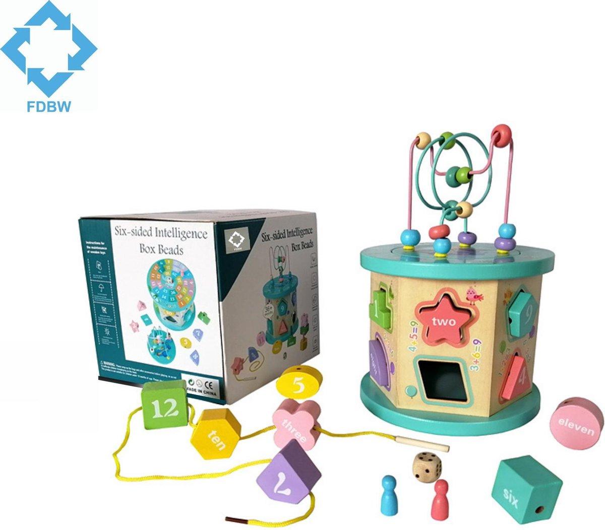 Blokkendoos met Vormen | Kralenrek | Multifunctioneel Speelgoed Kind - Educatief Speelgoed 3 Jaar