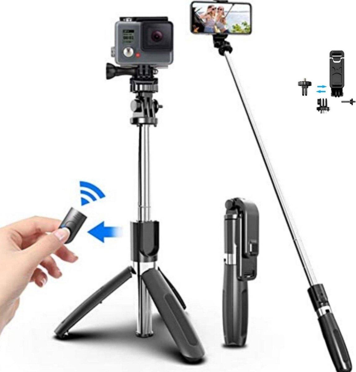 Selfie Stick Tripod voor Smartphone en Action Camera   360  Rotatie - Bluetooth Afstandsbediening