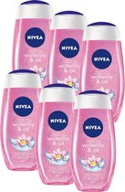 NIVEA Waterlily & Oil - 6 x 250 ml - Voordeelverpakking - Douchegel