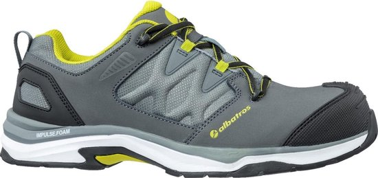 Mens Leather Ultratrail Low Lace Up Safety Shoe (Grey/Combined)