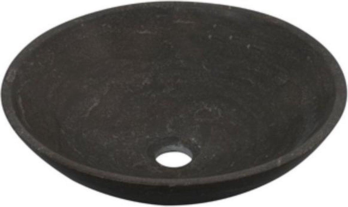 Plieger Stone waskom opbouw ø40x12 cm zwart